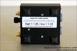 Adapter for Sansui A-603 MC transformers