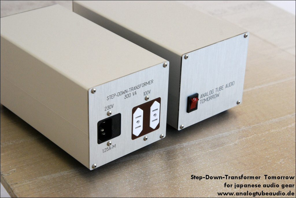 step down transformer for japanese audio gear (100 volts main voltage)