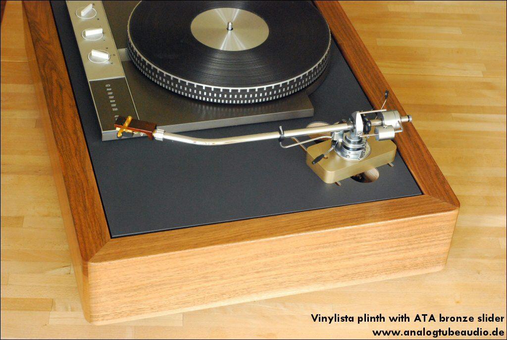 Vinylista Zarge mit Bronze Slider und SME 3012-R
