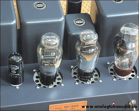 Uchida / Sun Audio, Japan Röhrenverstärker mit FIVRE 2A3 Monoplate Trioden triode amp